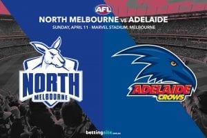 Kangaroos Crows AFL 2021 betting tips