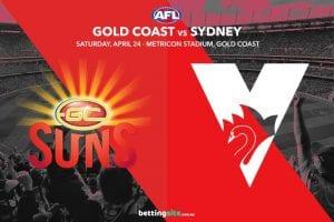 Suns Swans AFL tips