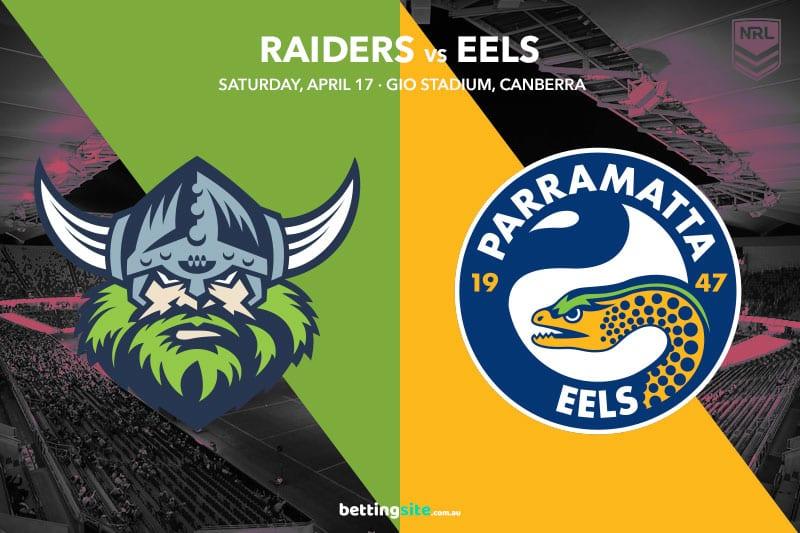 Raiders Eels NRL betting tips