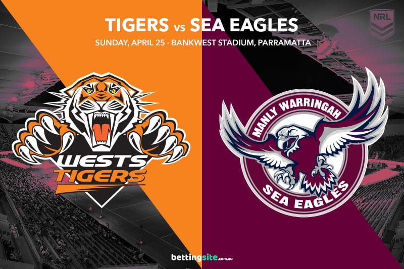 Wests Tigers vs Manly Sea Eagles