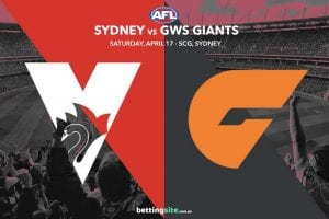 Sydney v Giants tips for AFL round 5 on April 17