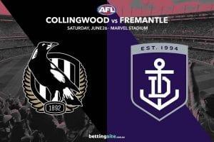 Collingwood v Fremantle tips and best bets, AFL round 15 2021