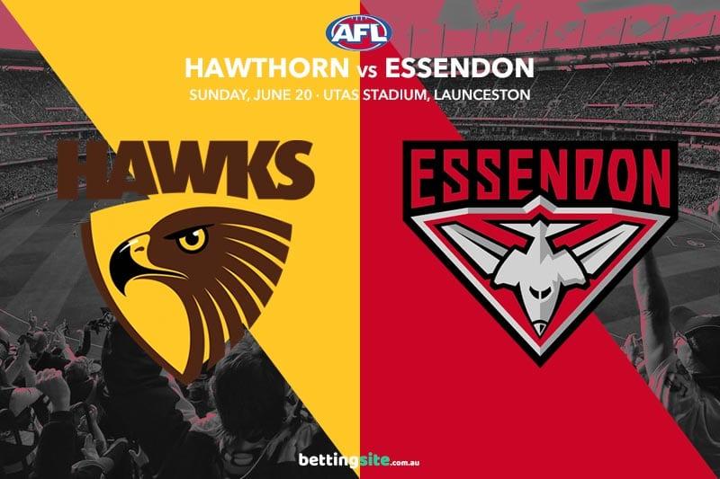 Hawks Bombers AFL betting tips