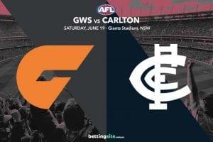 GWS v Carlton tips 19/6