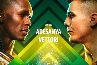 Adesanya vs Vettori 2 - UFC 263 main event