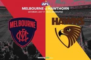Demons Hawks AFL Rd 18 betting tips