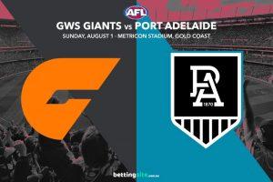 Giants vs Power AFL betting