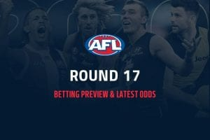 AFL Rd 17 betting odds