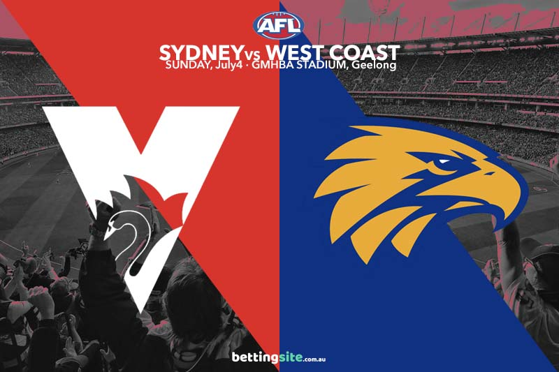 Sydney v West Coast betting tips and preview for AFL rd 16