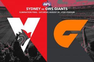 Sydney vs GWS AFL finals tips