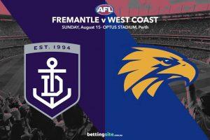 Fremantle v West coast betting tips for round 22 afl 2021