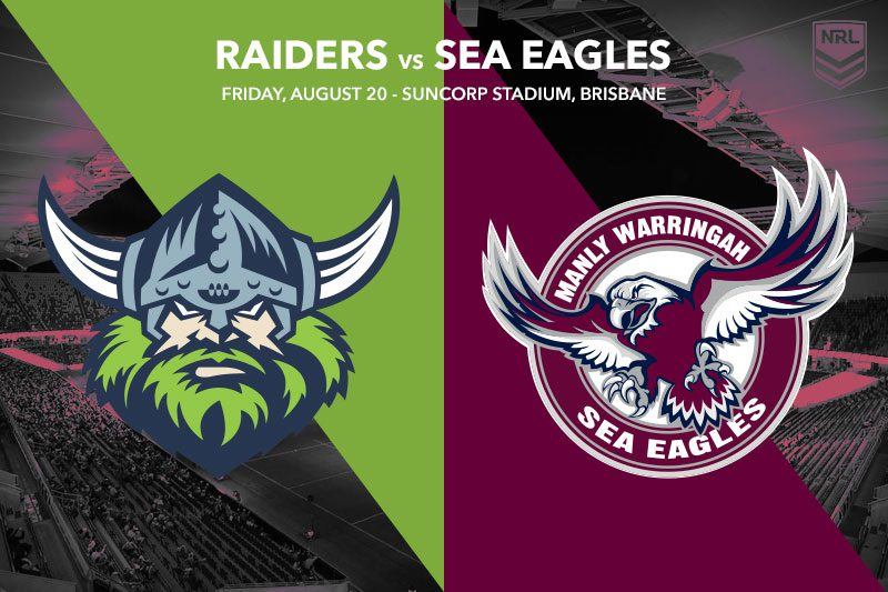 Canberra Raiders vs Manly Sea Eagles