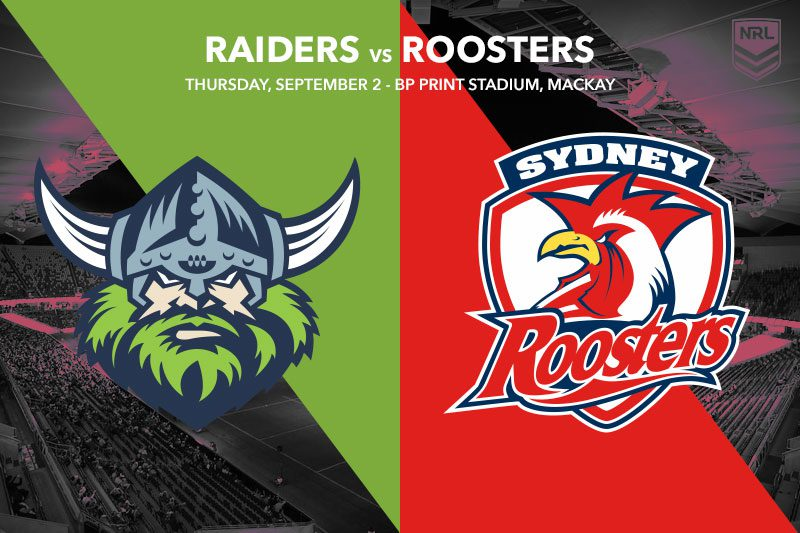 Canberra Raiders vs Sydney Roosters