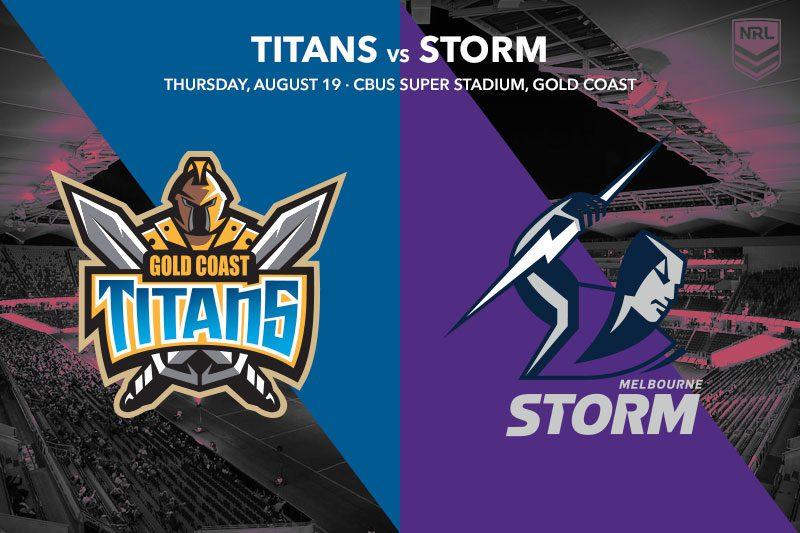 Gold Coast Titans vs Melbourne Storm