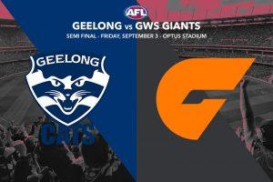 Cats vs Giants - AFL Finals Week 2