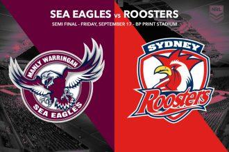 Manly Sea Eagles vs Sydney Roosters - NRL Finals Week 2